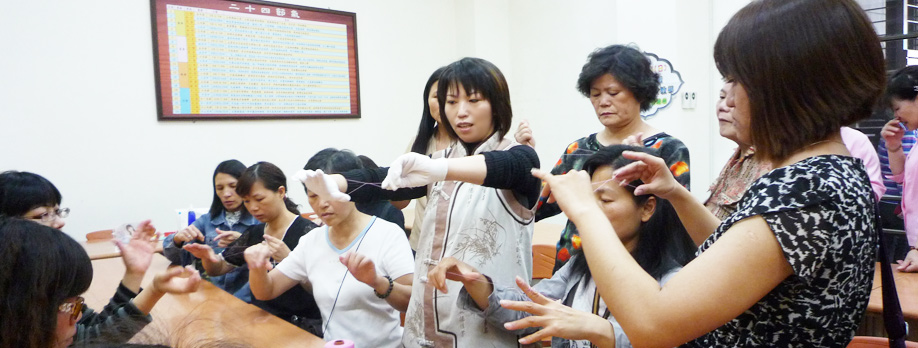 Butterfly facial threading teaching activities of the founder teacher Annie.